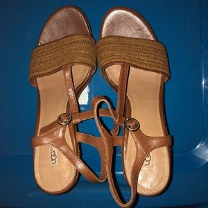 9d01a3b0585 UGG Women's Fitchie Wedge Sandals RUST (Size 9)